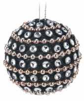 Goedkope zwarte kerstballen steentjes stuks