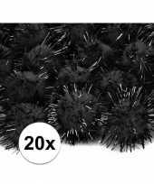 Goedkope zwarte knutsel pompons mm