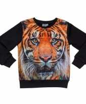 Goedkope zwarte sweater tijger kinderen