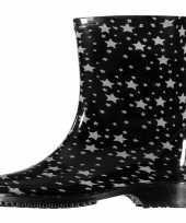 Half hoge dames regenlaarzen zwart sterren goedkope dames