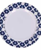 Hard kunststof bord bloemengoedkope blauw wit