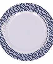Hard kunststof bord schubben goedkope blauw wit
