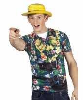 Hawaii shirt fotogoedkope toerist heren