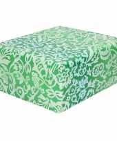 Inpakpapier cadeaupapier groen bloemengoedkope rol
