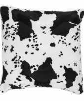 Sierkussen fluweel koeiengoedkope zwart wit