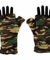 Vingerloze handschoenen camouflage goedkope volwassenen