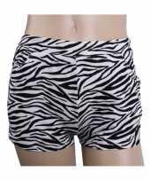 Zebra goedkope hotpants dames